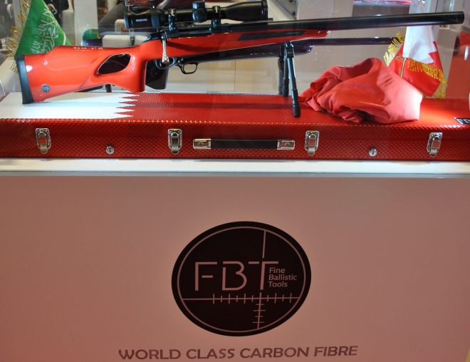 FBT Bahrain flag thumbhole stock.