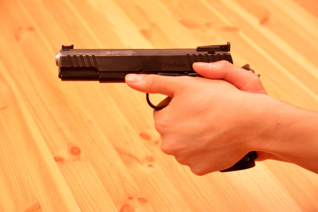 Handgun Grip, Thumb Forward