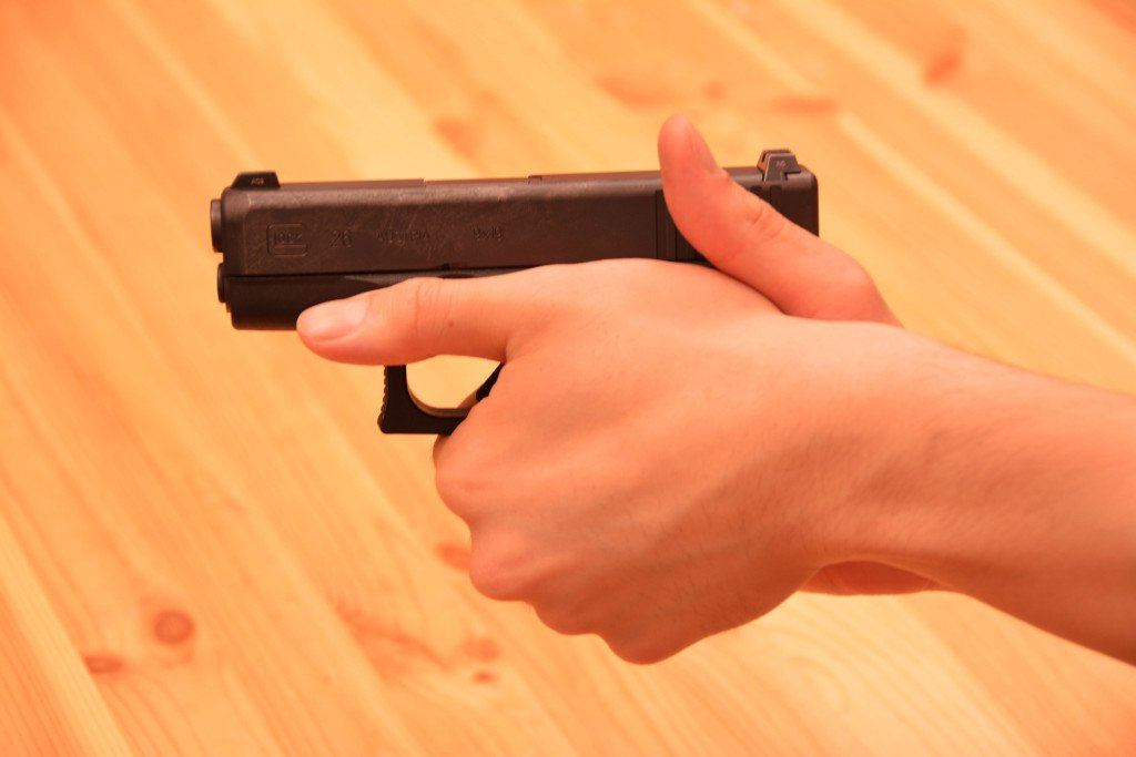 Handgun Grip, Thumb Up