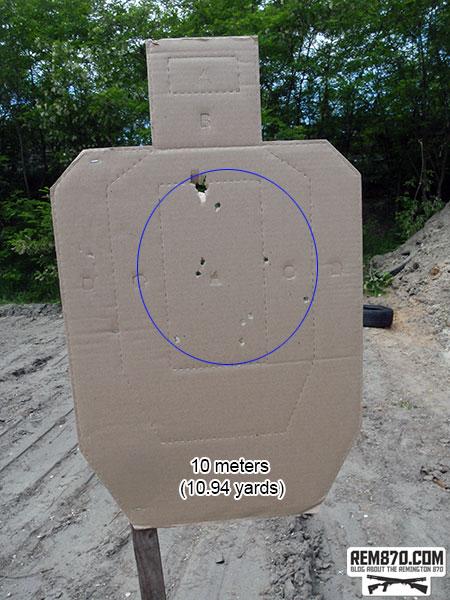 Shotgun Buckshot Pattern - 10 Meters