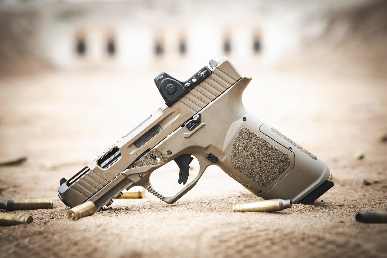 The kit is available with black and FDE options for both the frame and the slide, so you can go for a solid color or either two-toned combo.