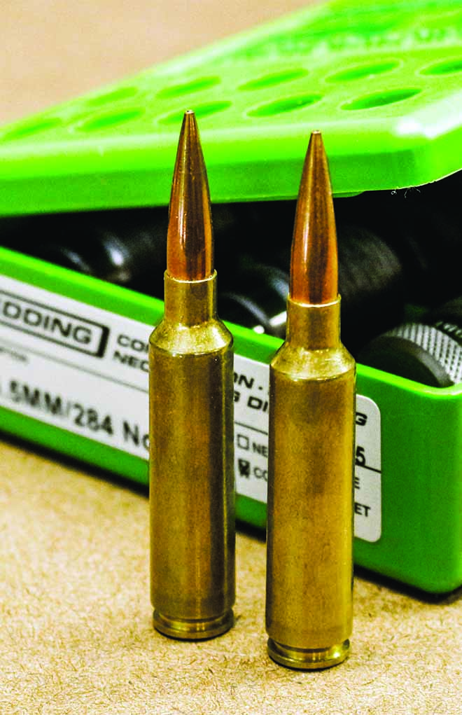 01. A 140-grain Berger Hybrid loaded in 6.5-284 Norma makes a great long-range target load.