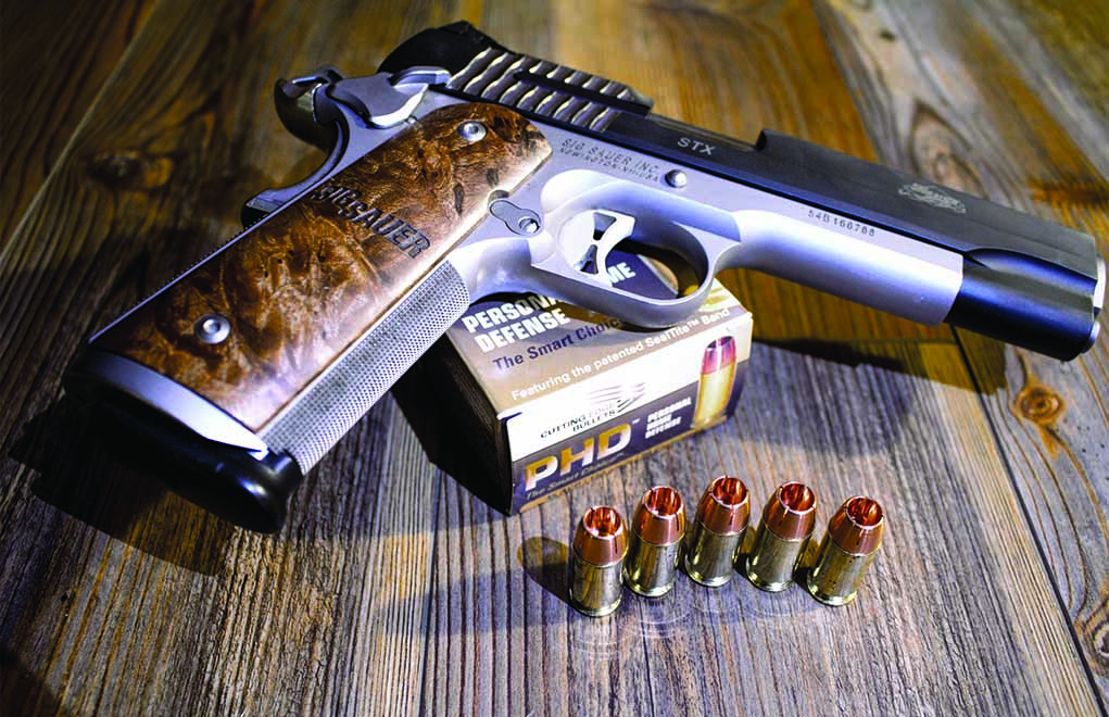 Cutting Edge Bullet's PHD (Personal Home Defense), shown here in .45 ACP. Note the skived ogive, which breaks off upon impact.