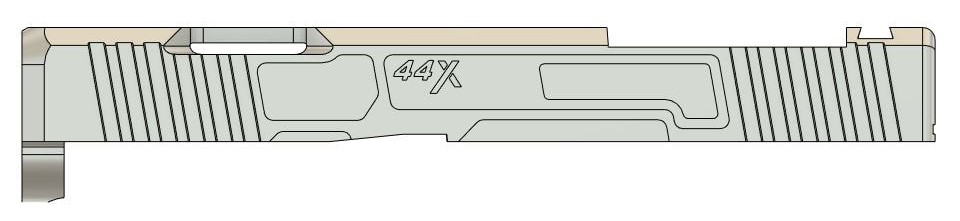 Nelson Precision 44X Aluminum Slide for Glock 44 Pistols (11)