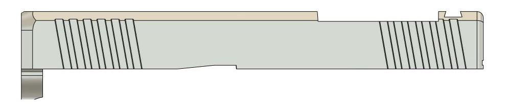 Nelson Precision 44X Aluminum Slide for Glock 44 Pistols (12)