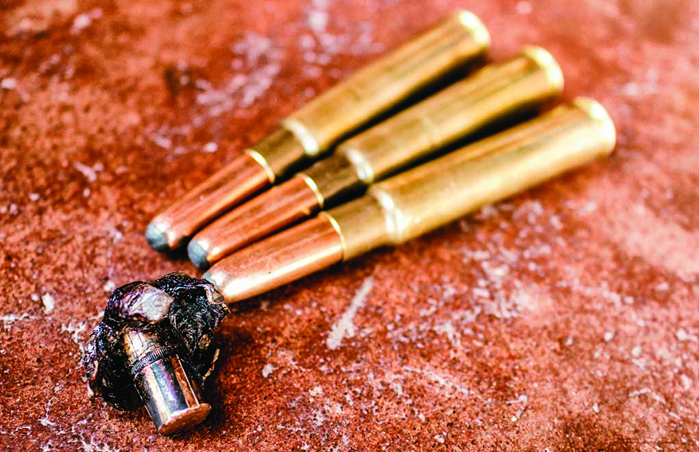 The author's handloaded .318 Westley Richards worked perfectly in Zimbabwe. The recovered bullet is from a Burchell's zebra stallion.