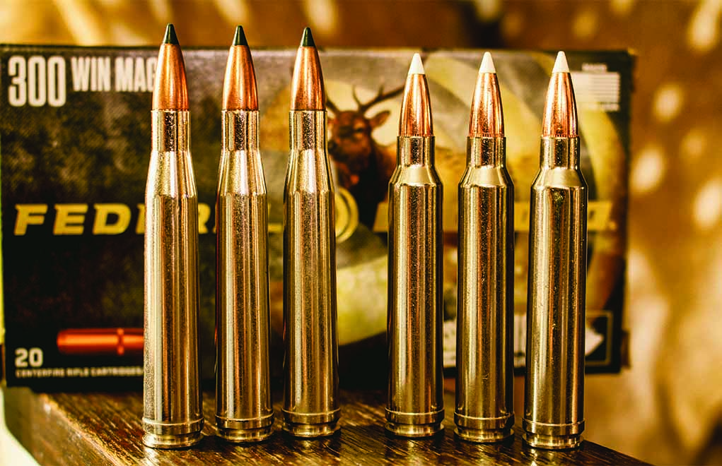 The .300 H&H Magnum (left) is a rarity these days when compared to the .300 Winchester Magnum (right), but it can be fun and effective in the field.