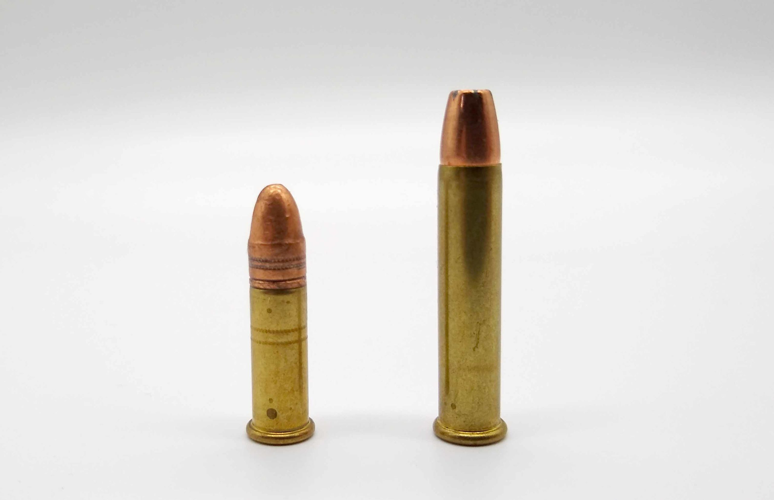 The .22 LR (left) is a jack-of-all-trades, while the .22 WMR is a specialist, for all intents and purposes.