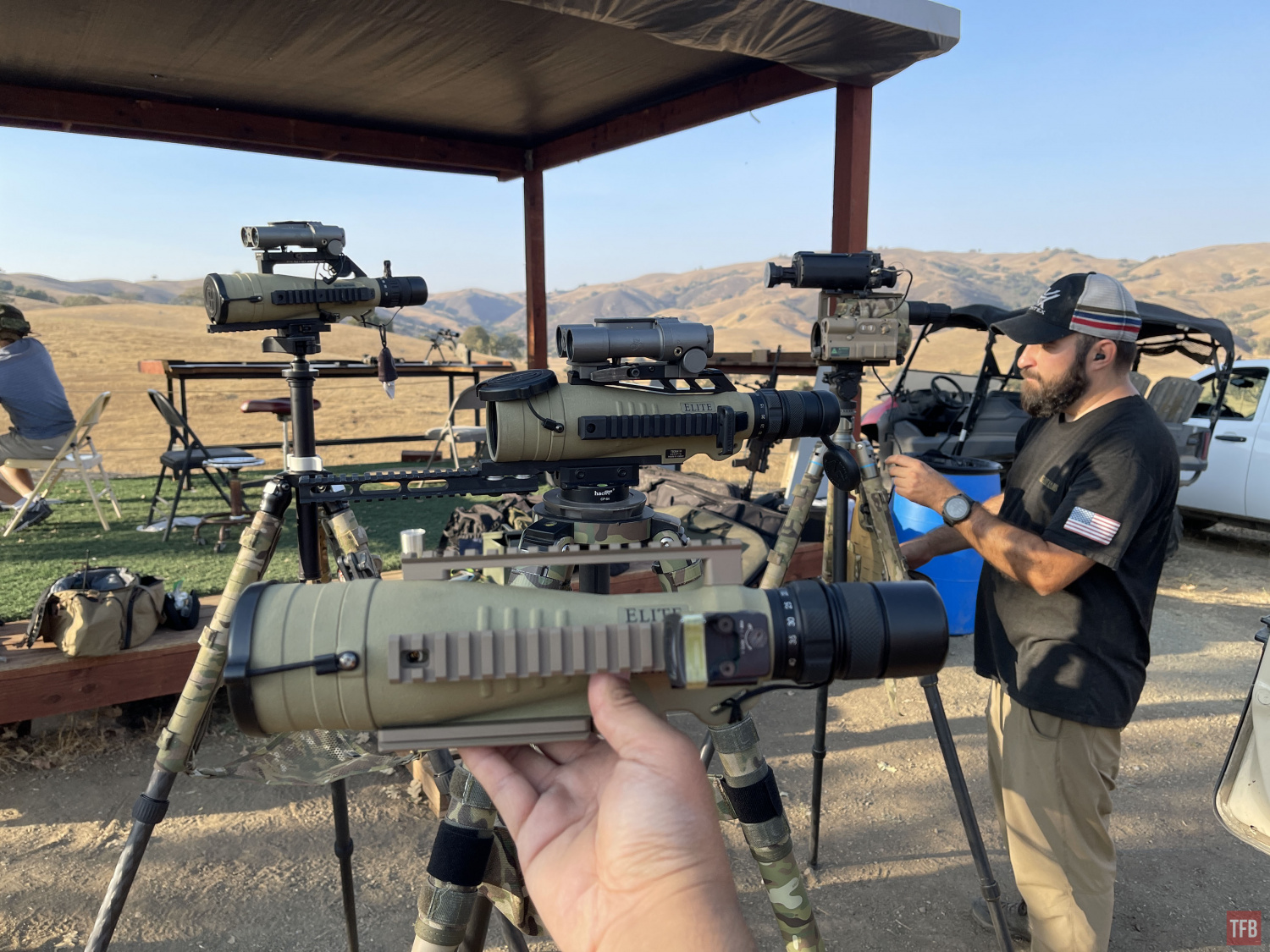 4 tricked out spotting scopes